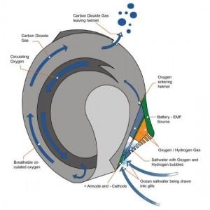 Процесс электролиза используется для разделения морской воды на кислород и водород
